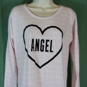 Victorias Secret XS Sleep Shirt Pink White Stripe